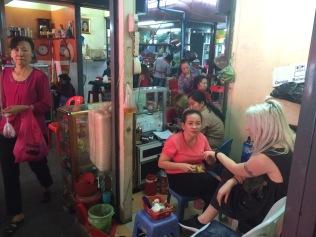 Manicure in Phnom Penh Market, Cambodia